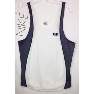 3/$50 Nike men's retro white gray tank top M L